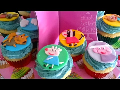 How to make Peppa Pig cupcakes