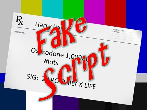 Pharmacy for You - Fake Script