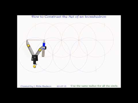 How to Construct net of Icosahedron