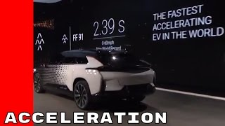 Faraday Future FF 91 Acceleration Demonstration 2.39 0 To 60