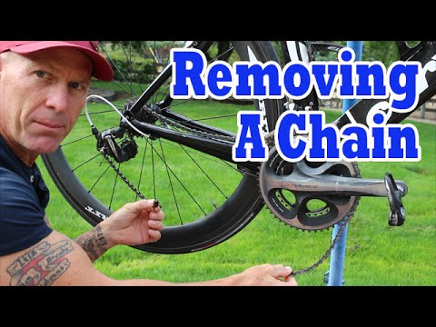 Removing And Cleaning A Bike Chain.  Wipperman Link Install.