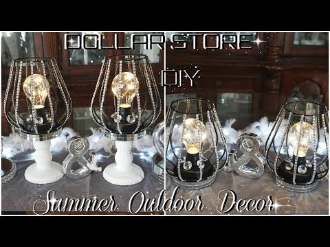 DIY DOLLAR STORE | SPRING\ SUMMER OUTDOOR PORCH PATIO DECOR | DIY OUTDOOR DECOR IDEA | PETALISBLESS