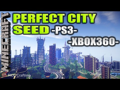 MINECRAFT PERFECT CITY SEED Number FLAT PLAINS RIVERS NATURAL SEED WORLD MAP PS3/XBOX360