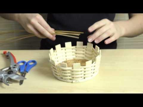 Basket weaving; Easy-Basket; Tutorial Zuckerlkorb2
