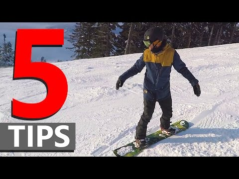 5 Tips for Linking Beginner Snowboard Turns