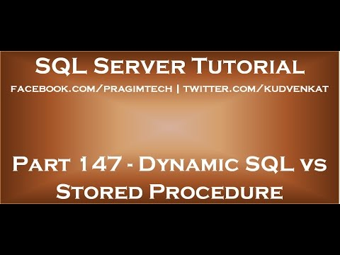 Dynamic SQL vs Stored Procedure