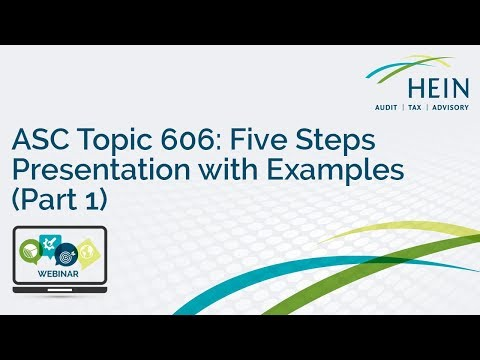 Webinar:  ASC Topic 606:  Five Steps Presentation with Examples (Part 1)