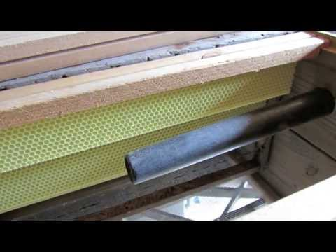 Making and setting a Honey bee Trap-out hive box