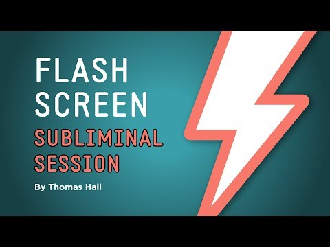 Deep Relaxation - Flash Screen Subliminal Session - By Thomas Hall