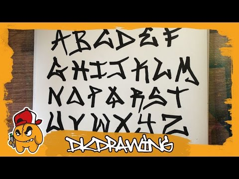 Graffiti Tag Alphabet - Handstyle Tagging #1