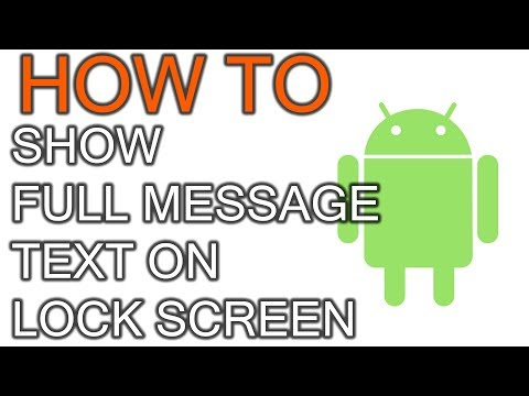 How To Show Text Content On Android Lock Screen