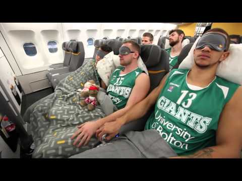 Thomas Cook Airlines A330 Premium Class with the Manchester Giants