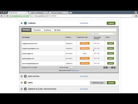 How to point a domain name to a landing page on GoDaddy