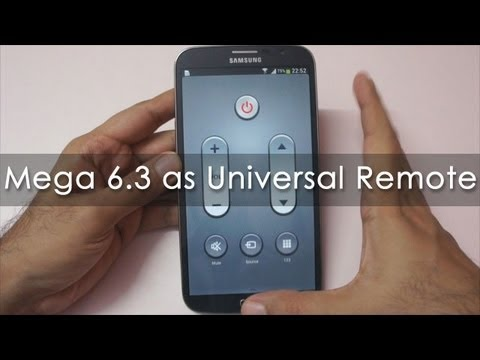 Samsung Galaxy S4 / Mega 6.3 as a Universal Remote with Watch On