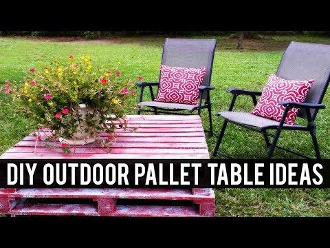 DIY Outdoor Pallet Table Ideas