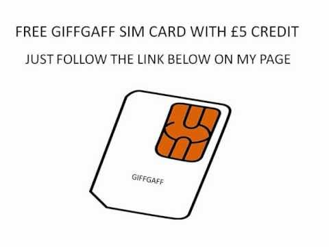 giff gaff phone network free sim with £5 credit ! ! !
