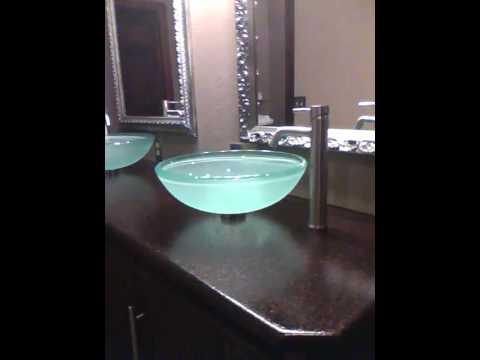 Imagistone Bathroom Vanity in Black Truffle with Bullnose Edging