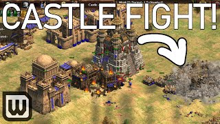 Age of Empires II FIRST CAST! MID MAP CASTLE BRAWL (MbL vs Hera)