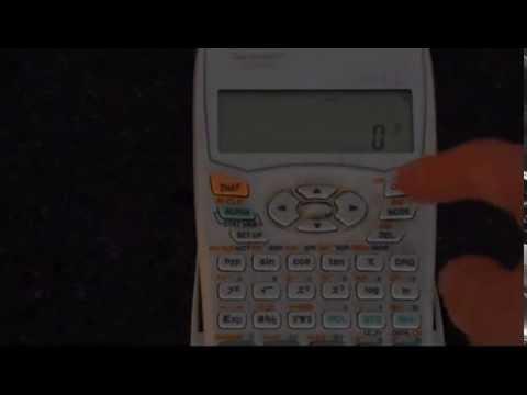 Reset Sharp EL-531WH Calculator