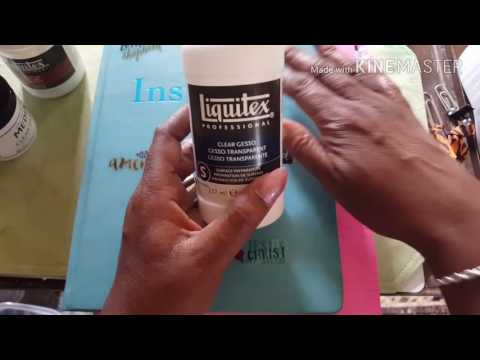 Make your Liquitex clear gesso smooth