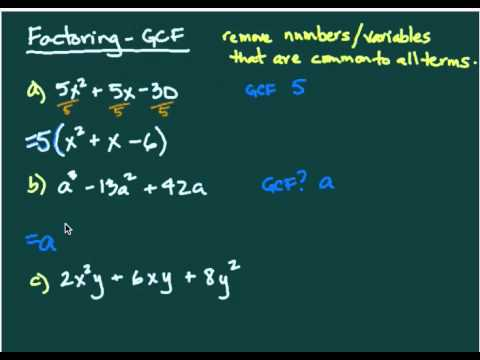 Factoring - greatest common factor