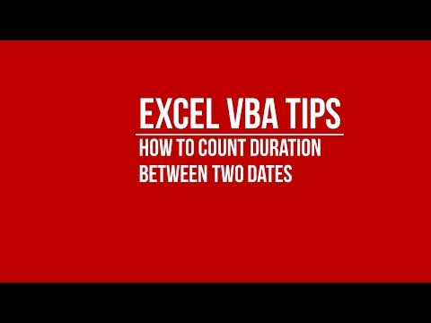 How to Count Duration Between Two Dates in Excel using VBA