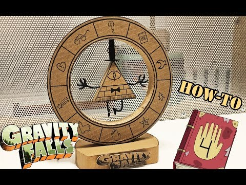 How to Make Bill Cipher LED Wheel from cardboard\Gravity Falls and Rick and Morty universes