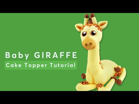 Baby Giraffe Cake Topper Tutorial (by SweetSugarCraft)