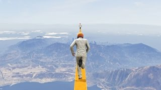 100% IMPOSSIBLE NEVER ENDING TIGHTROPE! (GTA 5 Funny Moments)