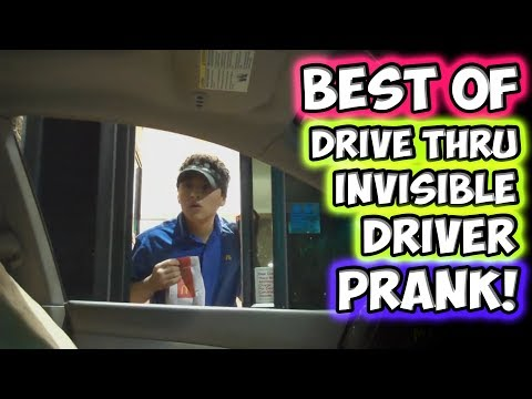 Best of Drive Thru Invisible Driver Prank!!!