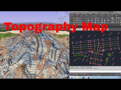 How to draw a topography map with cogo Points Connecting in Auto cad Civil 3d  in Urdu/Hindi