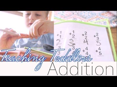 Teaching Toddlers to Add with Number Sticks | FREE PreK Homeschool Activity | steffiethischapter