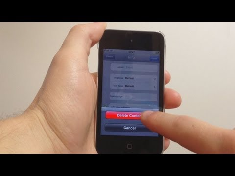 How to Delete Contacts from the iPhone, iPod Touch or iPad