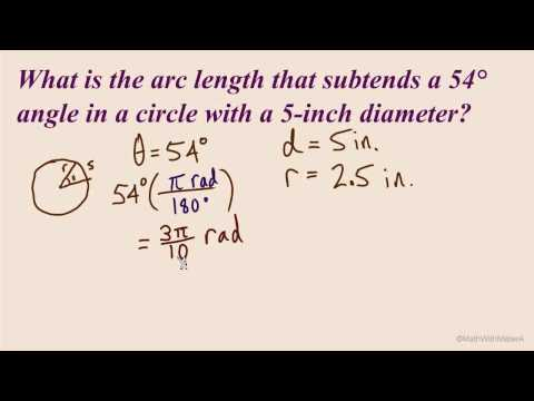 Arc Length and Angular Speed - Part 4 (Arc Length Example #2)