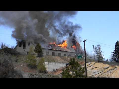 Princeton, BC Canada - Old Highways building burns!