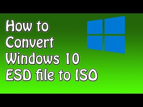 How to Convert Windows 10 ESD file to ISO