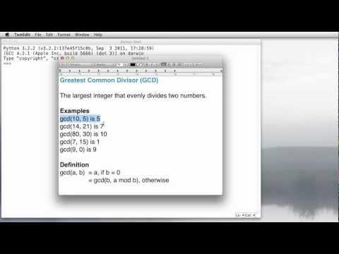 Python: Greatest Common Divisor (GCD)