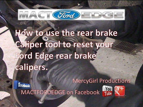 How to use the rear brake caliper tool on your Ford Edge 2011 plus model year
