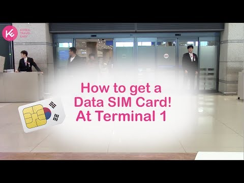 Get a SIM card at the Incheon Airport