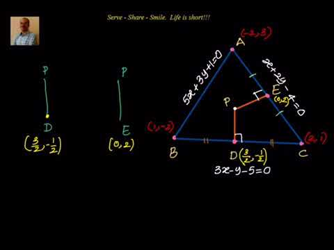 Coordinate Geometry: Finding circumcentre, given equation of sides