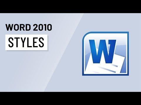 Word 2010: Styles