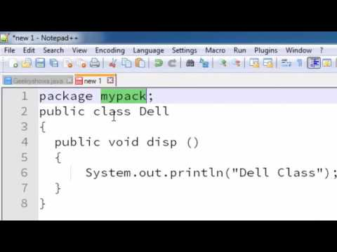 148. Create and Save Package for notepad user in Java Programming (Hindi)