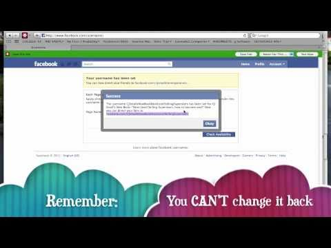 How To-Change your Fanpage URL-Screencapture