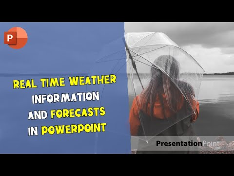 Real-time weather information and forecasts in PowerPoint