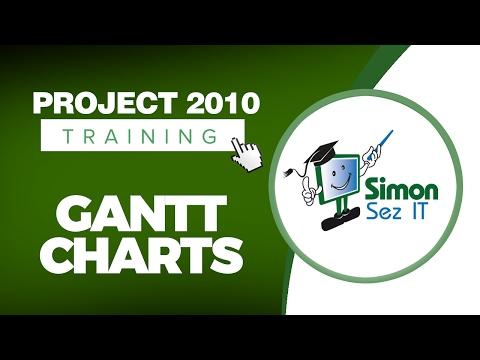 Microsoft Project 2010 Video Training Tutorial - Gantt Charts