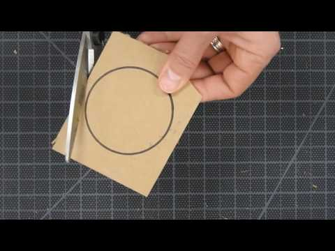 Working with cardboard--making a form with graduated shapes