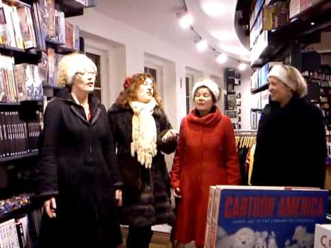 Carollers in the bookstore   ABC Amsterdam
