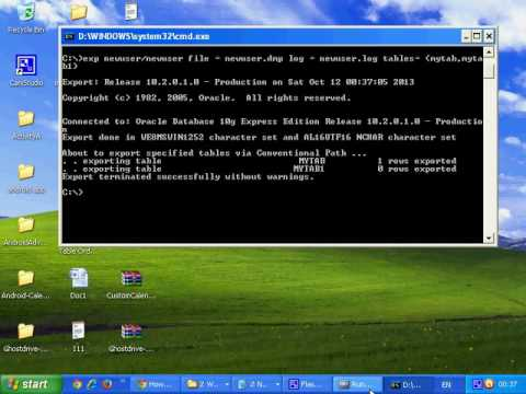oracle dump file creation