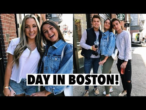 A DAY IN MY LIFE: lunch in boston, shopping & hanging out with gretchen, kyle and michael!