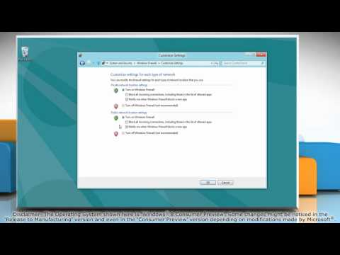 How to Change Firewall Settings on Windows® 8